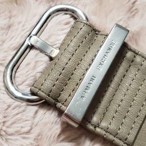 Armani Exchange Taupe Faux Leather Waist Belt